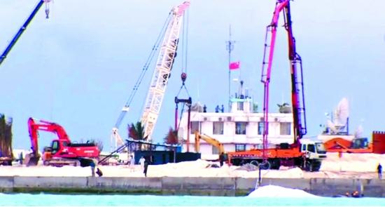 中国扩建赤瓜礁改变我军劣势 打造南海不沉航母
