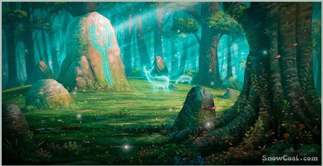 PhotoShop 打造魔幻森林