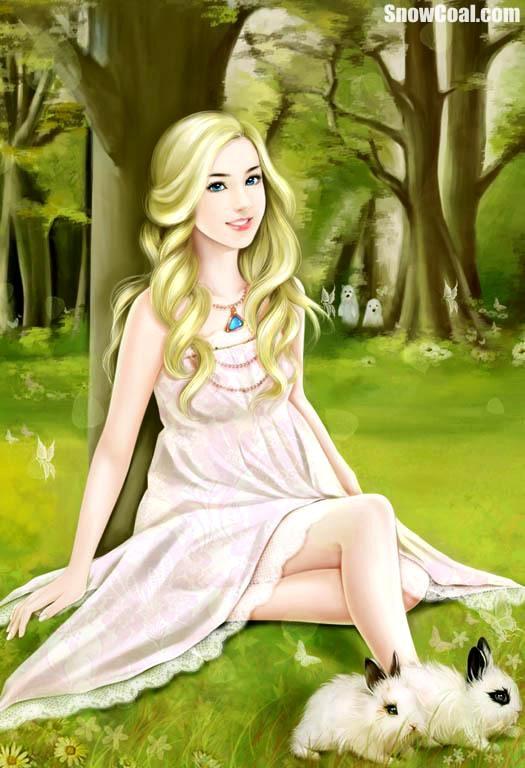 国外画师手绘美人欣赏