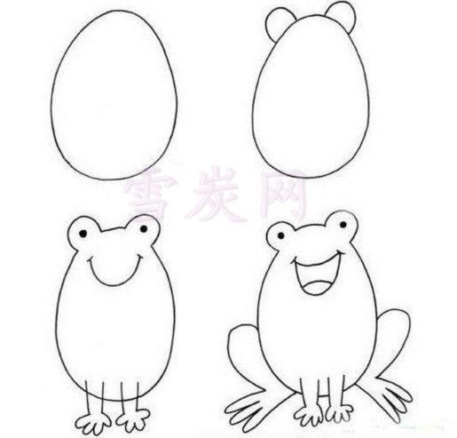 小青蛙呱呱呱,我来教你画青蛙