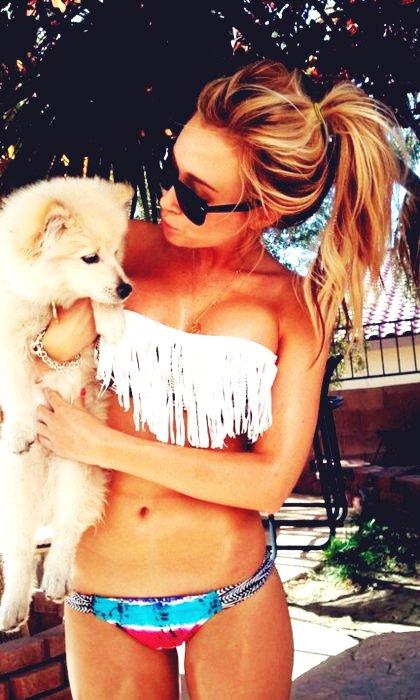 美女与宠物
