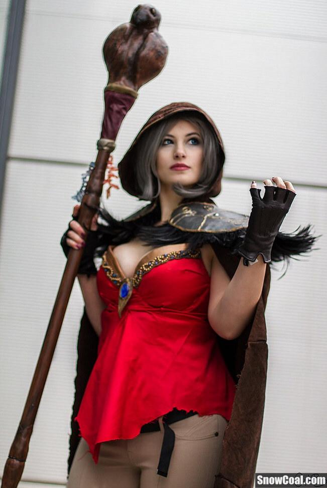 《魔兽世界》cosplay性感女版麦迪文,魔兽世界cosplay麦迪文
