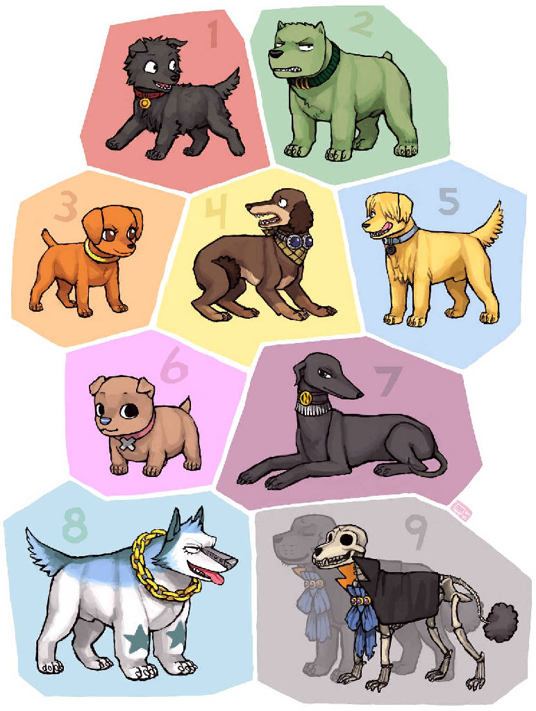 用各种狗狗形象表达草帽海贼团里的小伙伴,海贼王粉丝请进来,看看你能认出几个~
