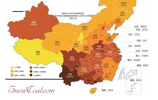 我国最新艾滋病(AIDS)形势图
