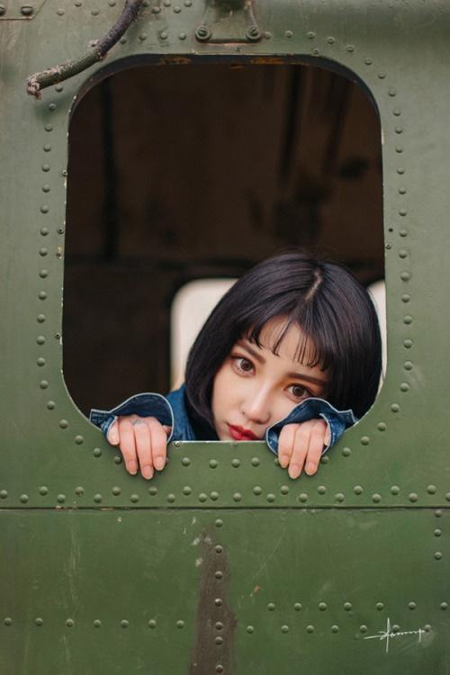 列车上的女人