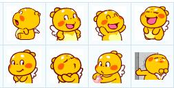 小黄龙表情图片_最新丘比龙QQ表情包下载【长翅膀的小黄龙】 - 雪炭网