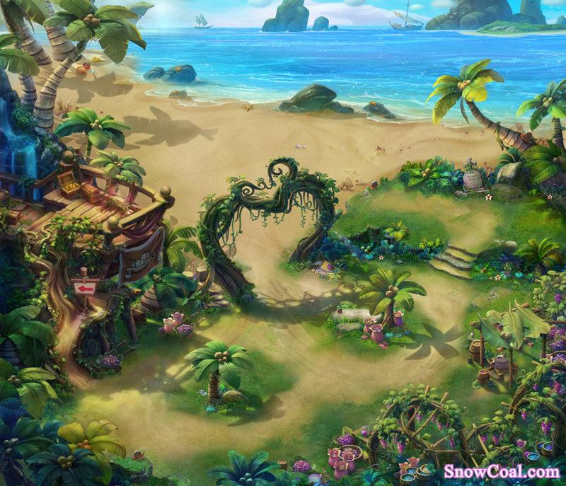 另人惊叹的精美游戏地图背景素材设计鉴赏