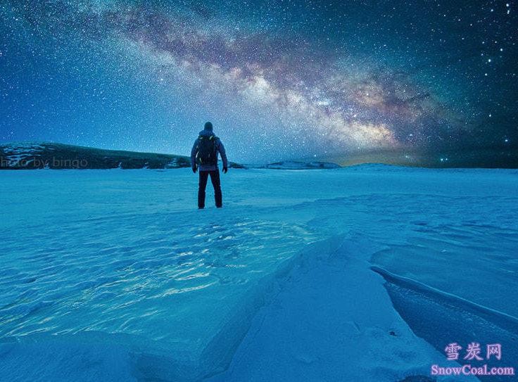 冰层上的星空