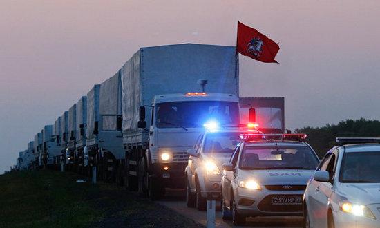 俄罗斯车队过乌境 与乌边防人员交火