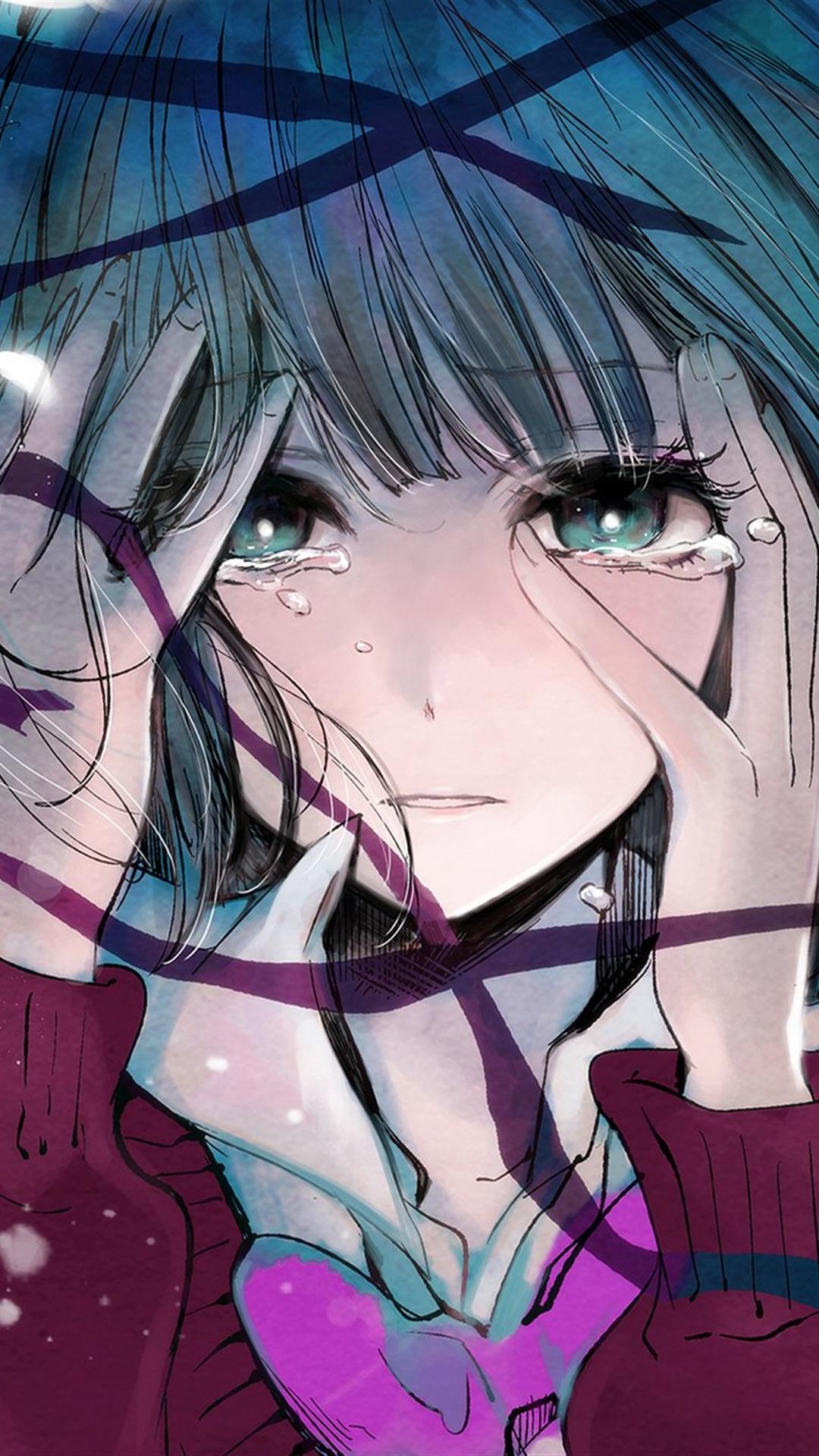 动漫 卡通 伤感 哭泣的女孩