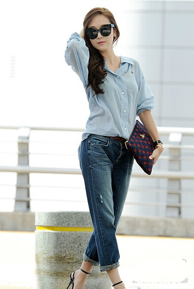 时尚韩国女星时髦实用包包